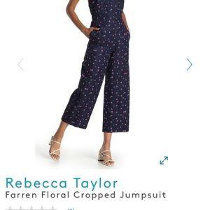 NWOT Rebecca Taylor Floral Jumpsuit